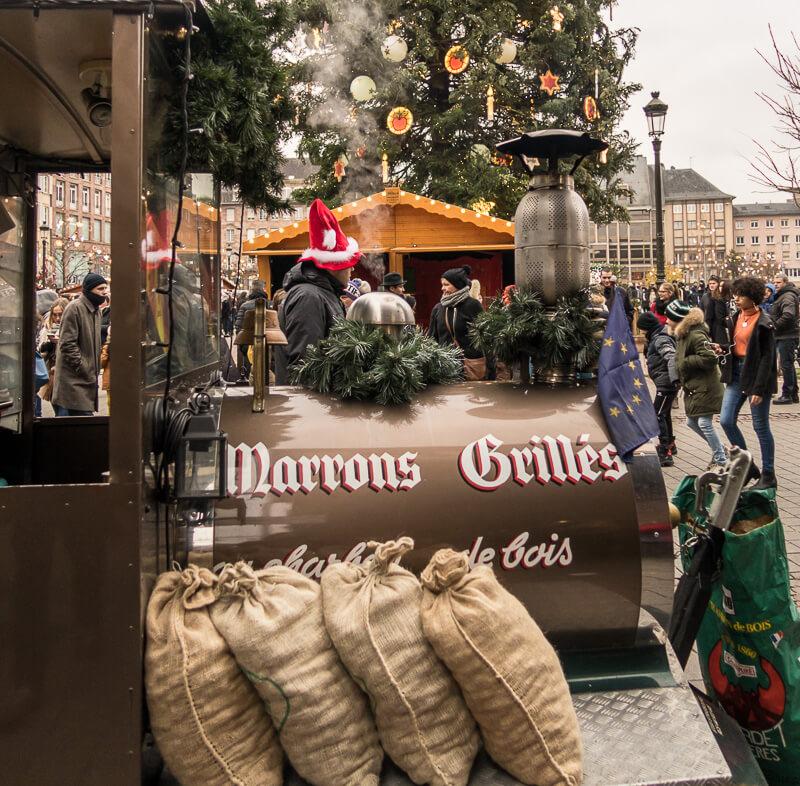 Marrons auf dem Straßburger Weihnachtsmarkt